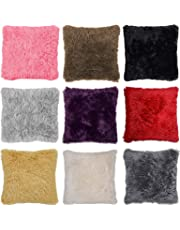 Adore 4 x Super Soft Faux Fur Cushion Cover Covers Cuddly Shaggy 43x43cm 10 Colours