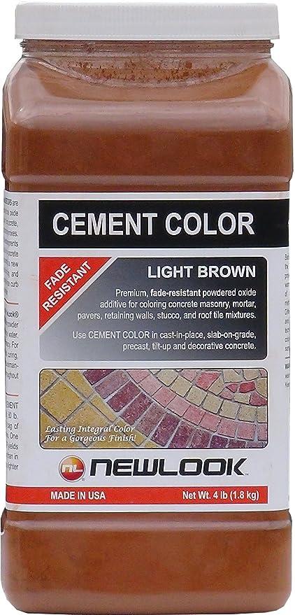 CEMENT COLOR 4 lb. Light Brown Fade Resistant Cement Color ...