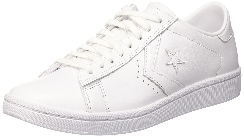 Converse Womens Pro Leather LP Sneaker B01N6O4ULB 8.5 D(M) US White/White