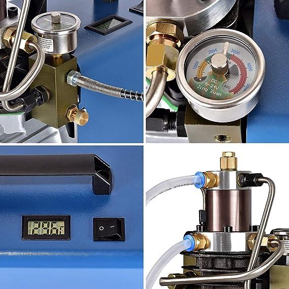 Topqsc 300bar 30mpa 4500psi High Pressure Air Pump Electric Air Compressor Pcp Air Pump For Normal Car And Bicycle Tyres Airgun Scuba Rifle Baumarkt
