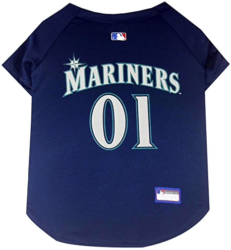 a0fae4a19bc Amazon.com   Pets First MLB Seattle Mariners Dog Jersey