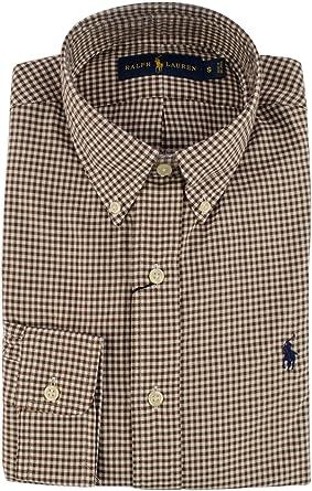 Polo Ralph Lauren - Camiseta de Sarga (tamaño Grande), Color Blanco y marrón: Amazon.es: Ropa y accesorios