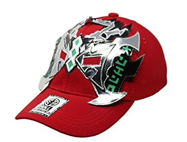 Heroes Of Lucha Libre Oriental Adult Unisex Stretch Fit Hat (Black) at Amazon Mens Clothing store:
