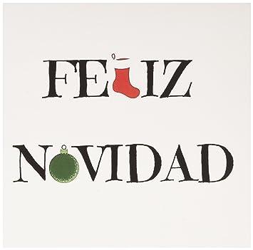 Amazon Com Feliz Navidad Merry Christmas In Spanish Greeting