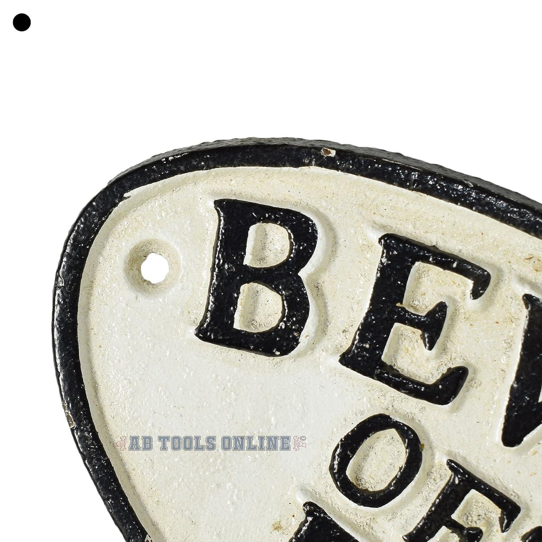 AB Tools Cuidado con el Perro Cartel de Hierro Fundido la Placa de Pared de la Puerta Cerca de la Casa de Jard/ín de Poste de Puerta