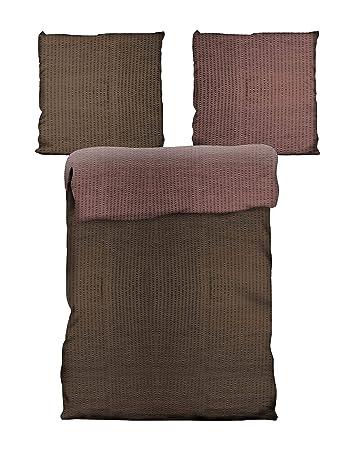 Bettwäsche Möbel Wohnen 4 Teilig Bettwäsche 135x200 Cm Rosa Grau