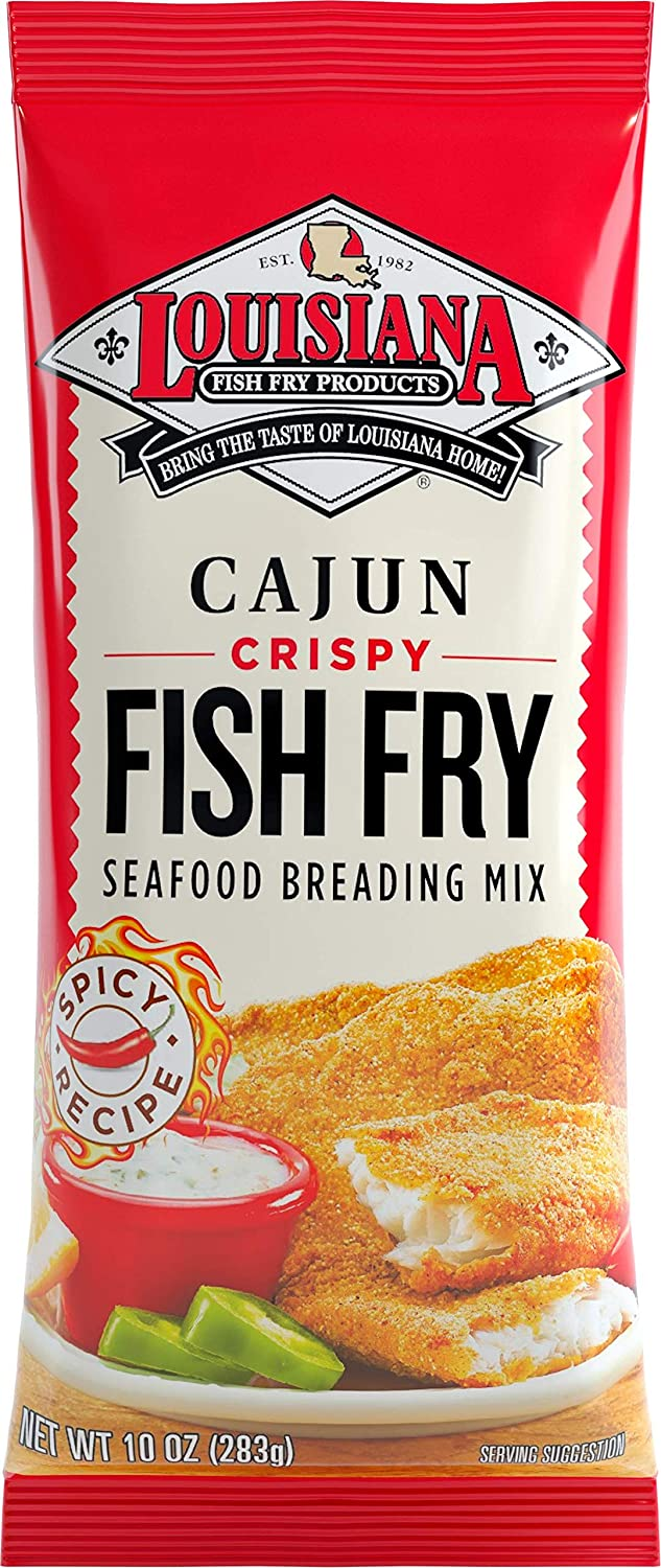 Louisiana Fish Fry, Cajun Fry, 10 oz (Pack of 4)