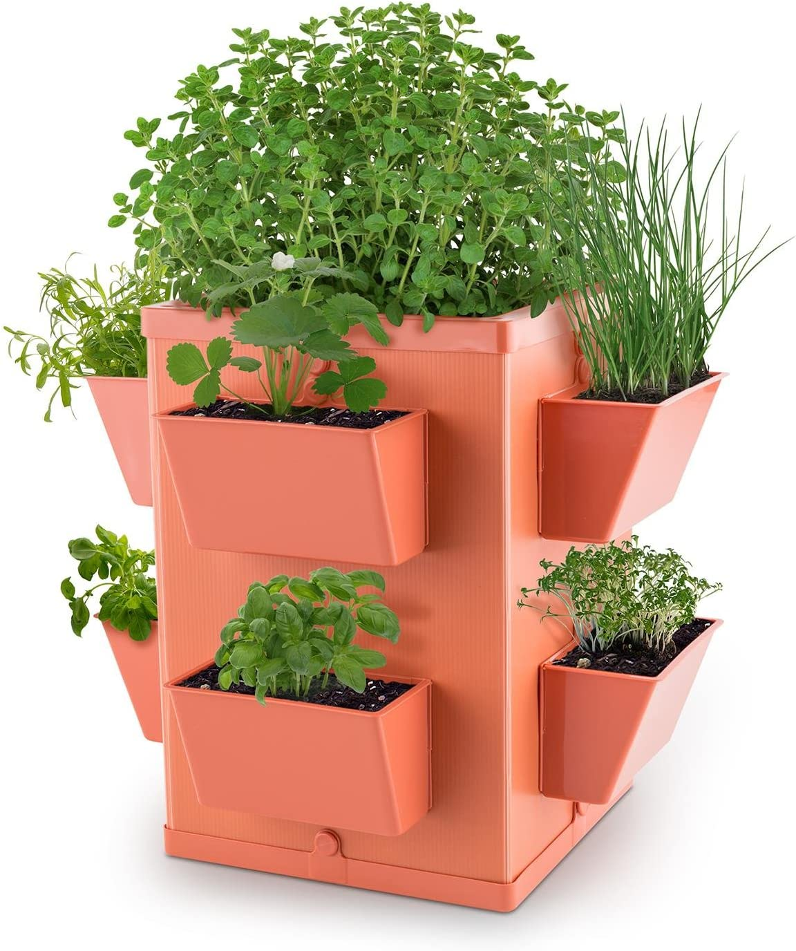 Waldbeck Herbie Hero Herp Pot Plant Pot 8 Plant Trays PP Terracotta