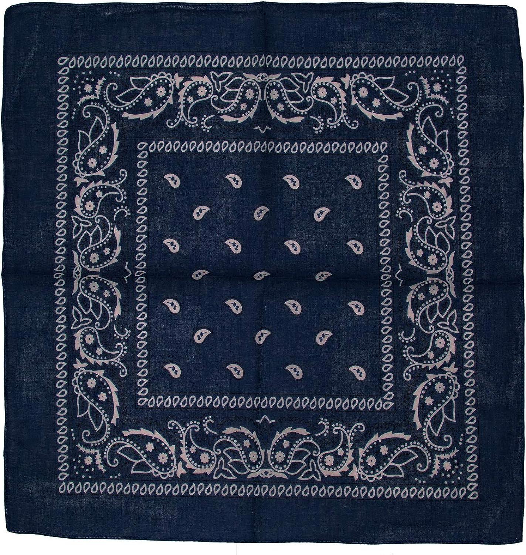 Kandharis Bandana Vierecktuch Kopftuch in Paisley Muster aus Baumwolle 55cmx55cm