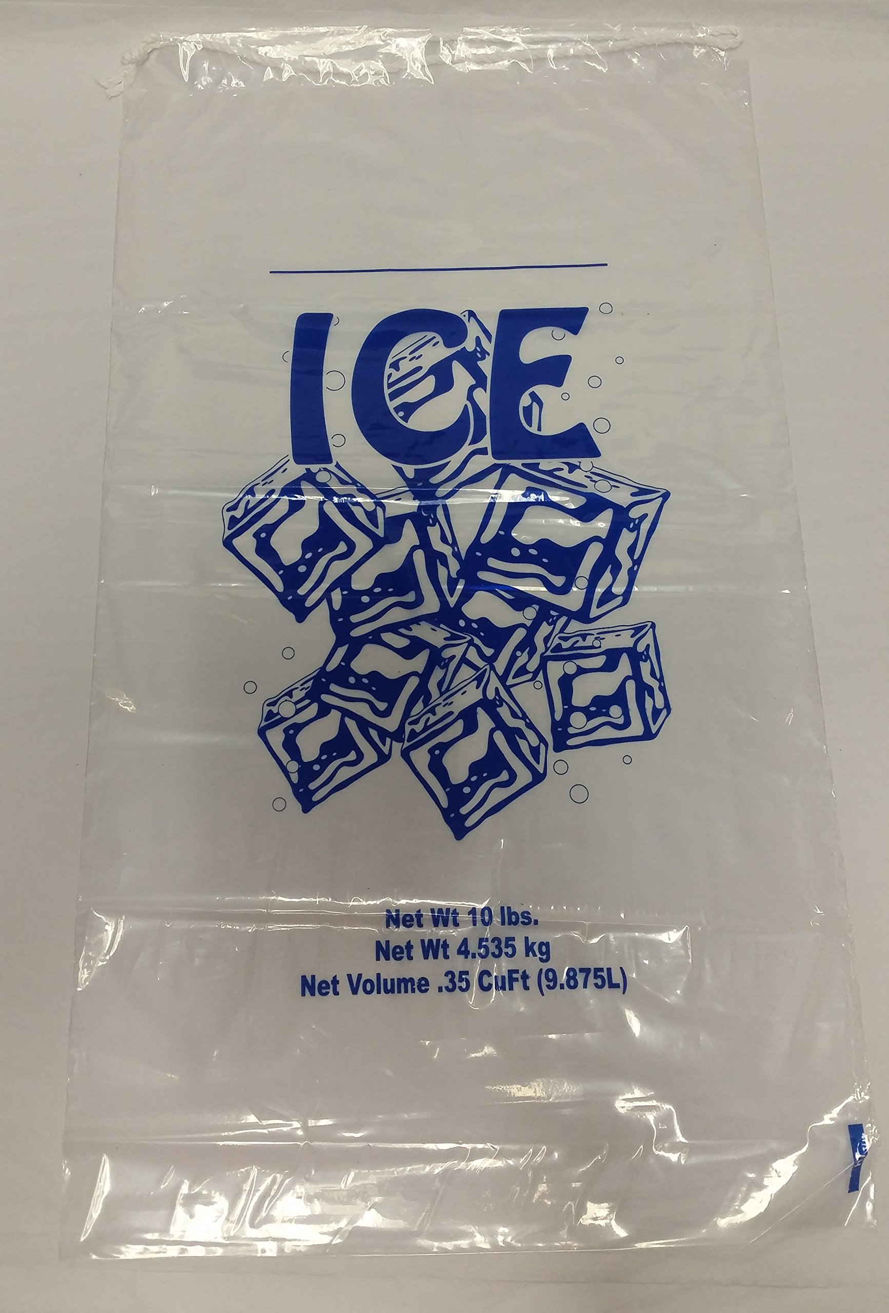 10# Drawstring Ice Bags (500/case) by 10# Drawstring Ice Bags