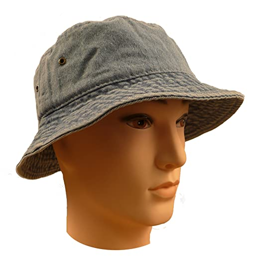1e03239a3847d Floral   Denim   Weed Summer Bucket Hat at Amazon Men s Clothing store