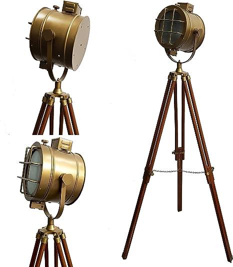 royal marine tripod floor lamp antique brass floor lamps marine search light