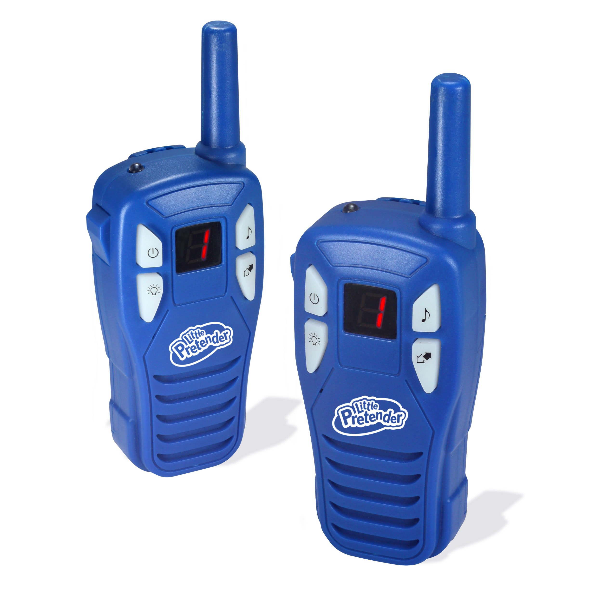 Little Pretender Walkie Talkies Kids, 2 Mile Range, 3 Channels, Built in Flash Light