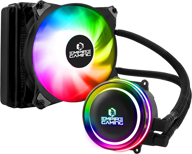 Empire Gaming – Guardian G-V10 Refrigeracion Liquida PC Gamer AIO –CPU Watercooling ARGB 3 pins 5 V -Radiador 120 mm – Ventilador PWM silencioso – Intel y AMD