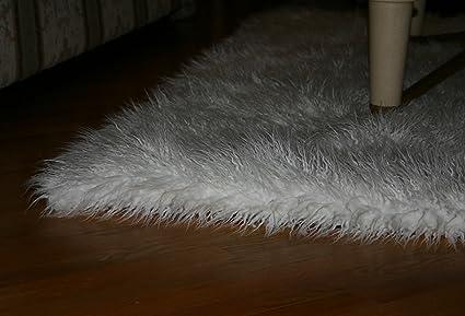 Amazon Com Fur Accents Faux Fur Area Rug Thick Shag Mongolian