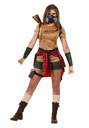 fun costumes womens zombie survivor fancy dress costume small
