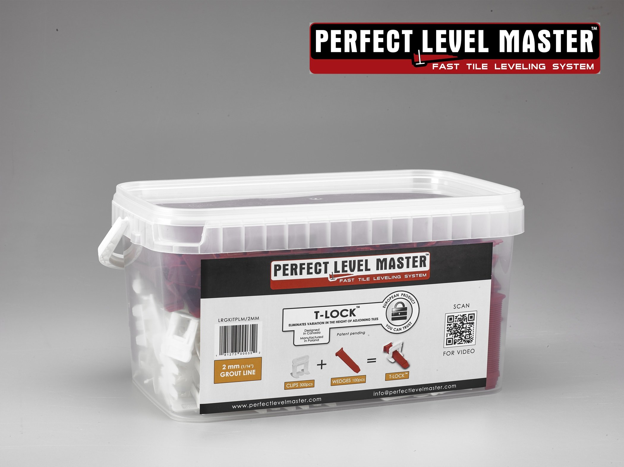 T-Lock 1/16-Inch Perfect Level Master Complete Kit