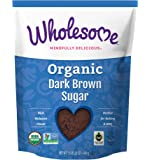 Wholesome Organic Dark Brown Sugar, Fair Trade, Non GMO & Gluten Free, 1.5 Pound (Pack of 6)