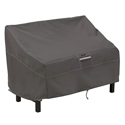 Classic Accessories Ravenna Water-Resistant 50 Inch Patio Bench Cover: Garden & Outdoor