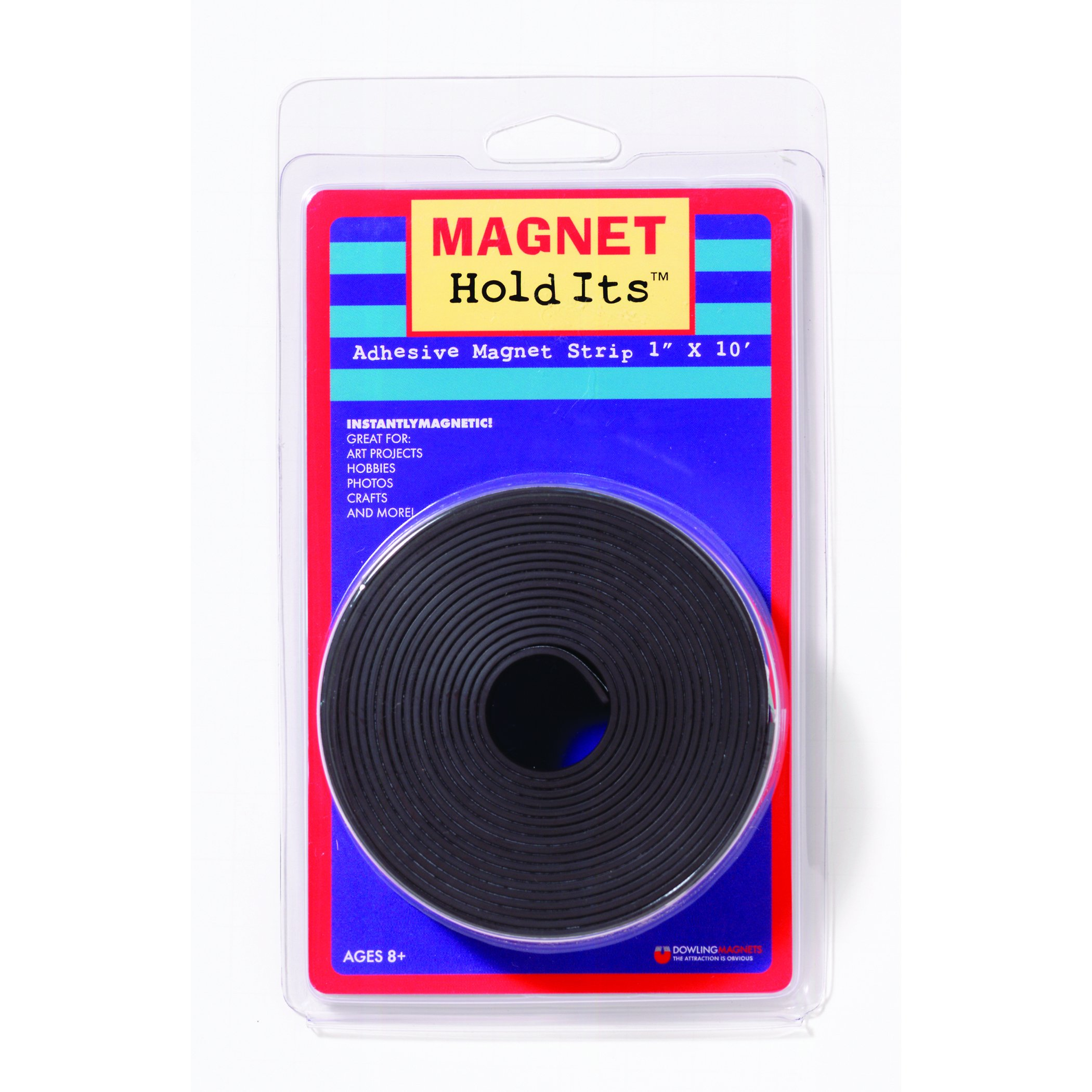 Dowling Magnets DO-735005 Roll of Magnet Strip with Adhesive, 4'' Wide, 7'' Length, 1.5'' Height