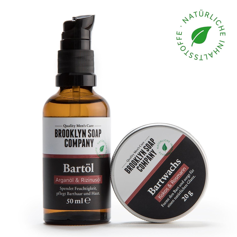 kit cuidado de barba: Groom& Style ✔consiste en aceite (30ml) y bálsamo para la barba (20g)✔cosméticos naturales de la BROOKLYN SOAP COMPANY ®✔regalo para hombres - styling de la barba cerrada y bigote