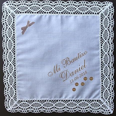 Pañuelo para Bautizo Personalizado con Nombre y Fecha ...