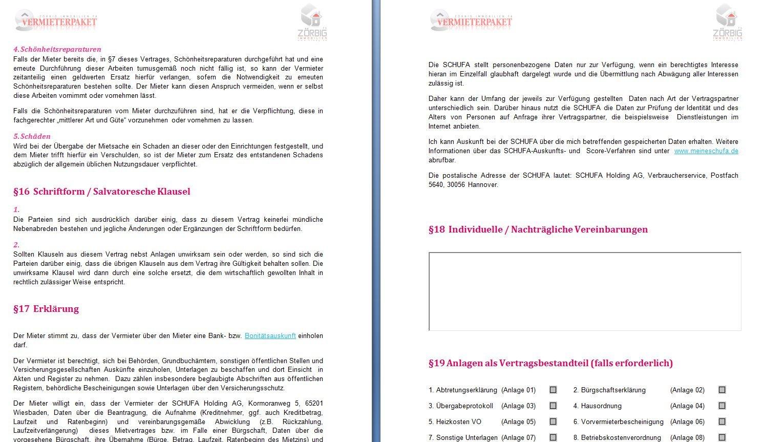 Mietvertrag für Wohnung und Gewerbe als DOC und PDF [Download]: Amazon.de:  Software