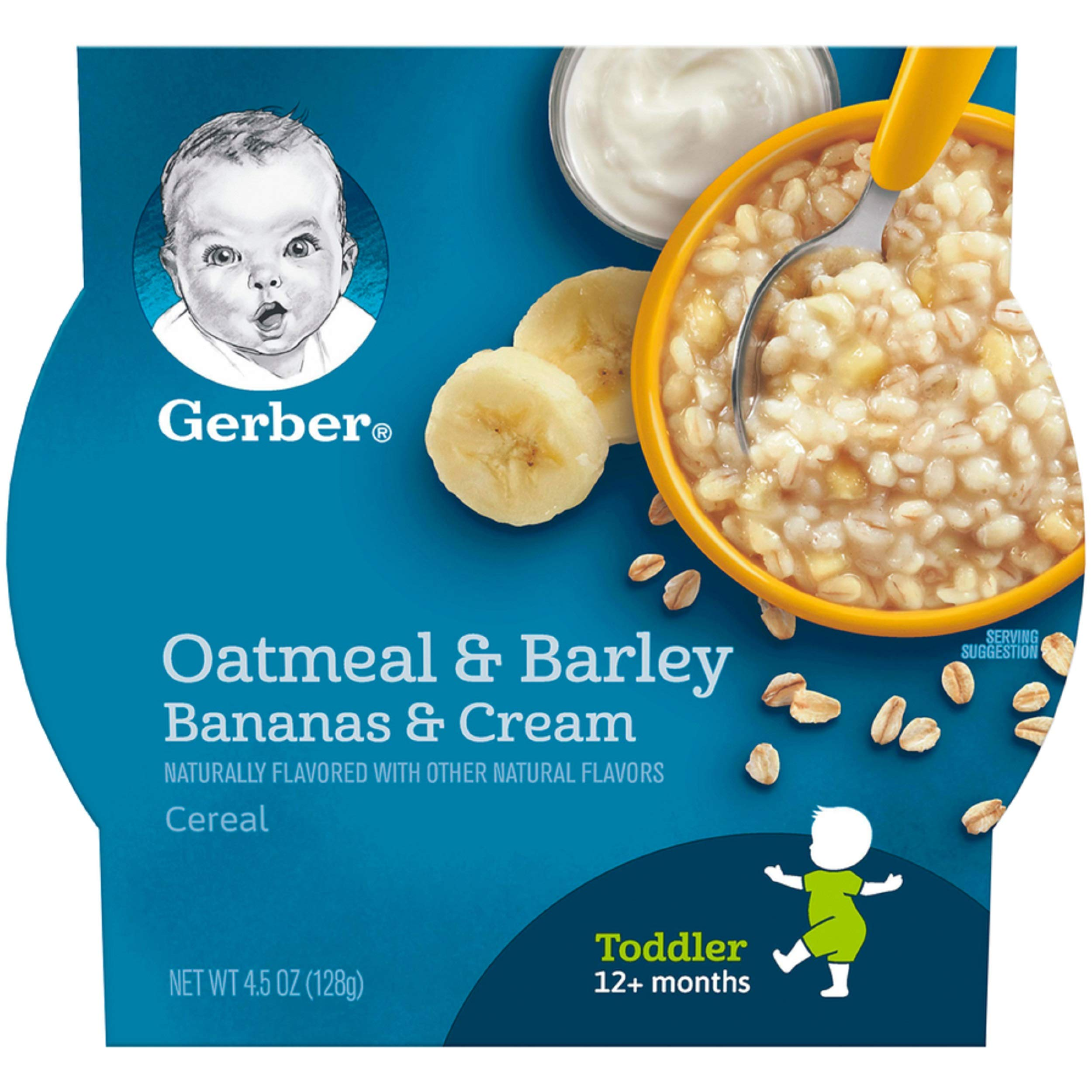 Gerber Graduates Breakfast Buddies Cereal, Banana Cream, 4.5 Ounce, 8 Count by Gerber