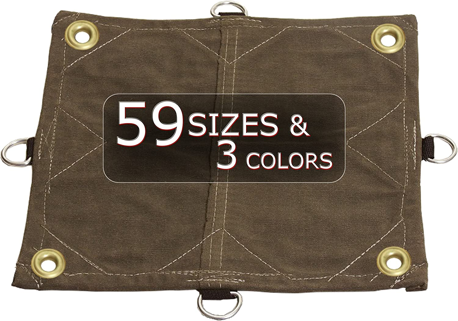 Mold and Mildew Resistant 8x10 Water 8x10 18oz Heavy Duty Canvas Tarp with D-Rings