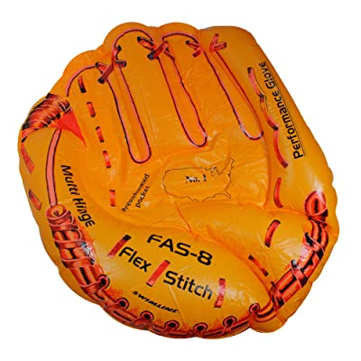 "62"" Inflatable Orange Baseball Glove Swimming Pool Raft Float: Sports & Outdoors"