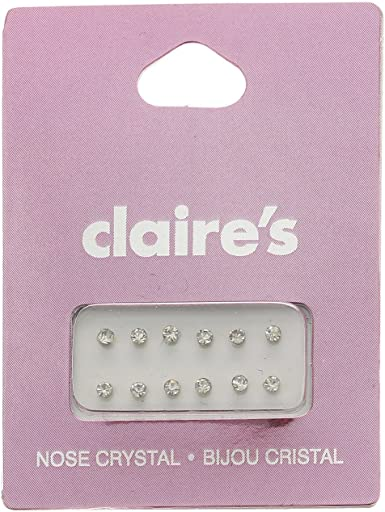 Claire S Girl S 12 Pack Nose Crystal Jewels Claire S Amazon Co