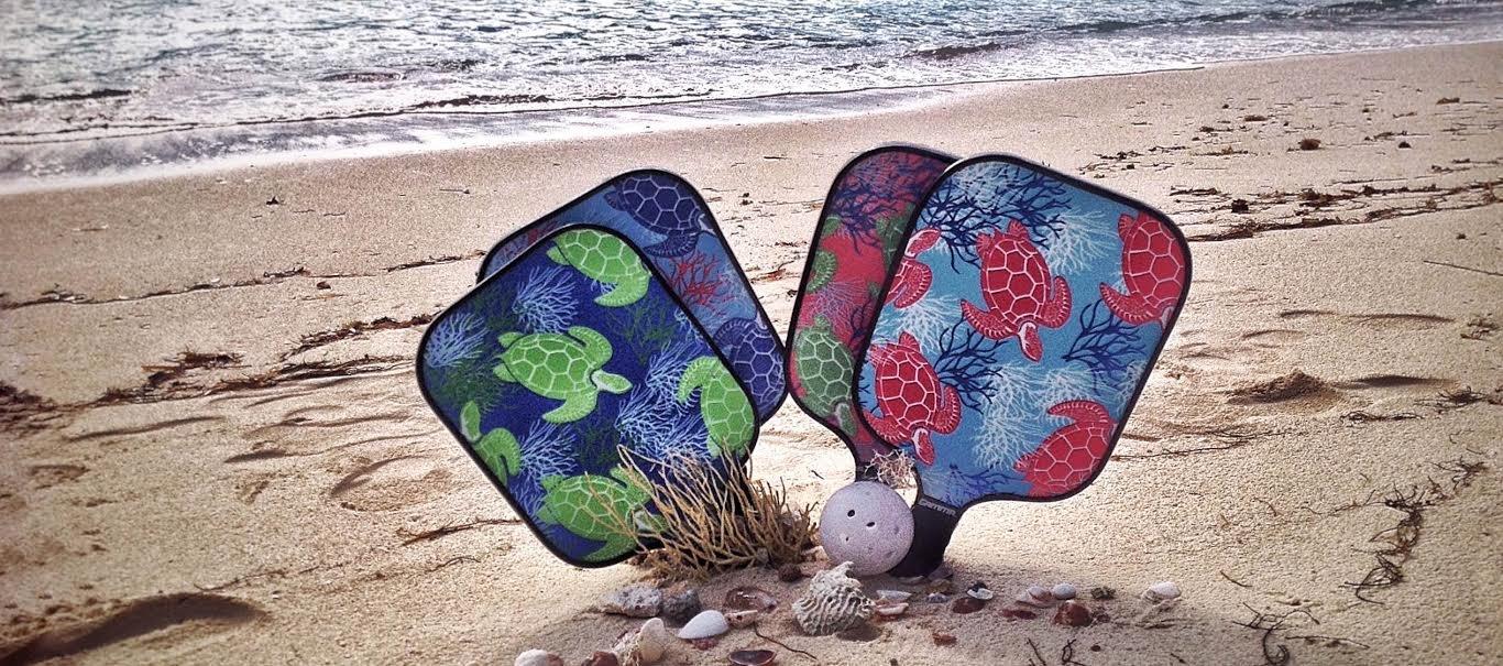 Eastport Pickleball Paddle, USAPA Approved, Blue Fish in Coral Sea - Pickleball's Poshest Paddle by Eastport Pickleball