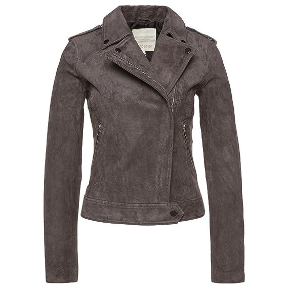 Tom Tailor Denim Jacke Damen Jacket Suede Leather Biker N8OPknwXZ0