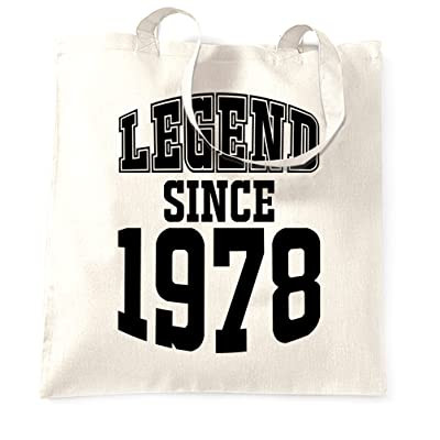 40th Birthday Tote Bag Legend Since 1978 Gift Made In 40 Years Old
