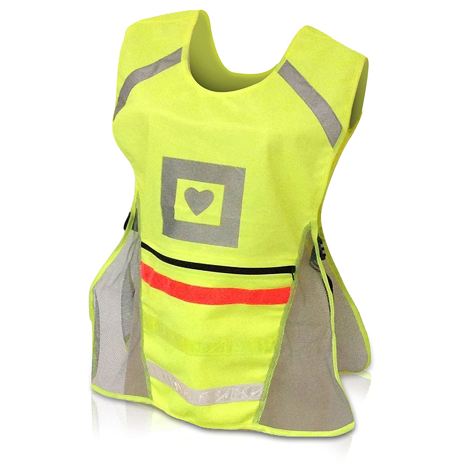 best new high visibility reflective safety vest by glow portal run bike or wal ebay. Black Bedroom Furniture Sets. Home Design Ideas