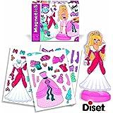 Diset - 63268 - Jeu de société - Jeu éducatif - Magnetics Robes De Princesses