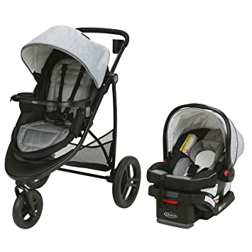 Amazon Com Graco Modes 3 Essentials Lx Travel System Includes Modes 3 Essentials Lx Stroller And Snugride Snuglock 30 Infant Car Seat Mullaly Baby