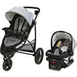 Graco Modes 3 Essentials LX Travel System | Includes Modes 3 Essentials LX Stroller and SnugRide SnugLock 30 Infant Car Seat,