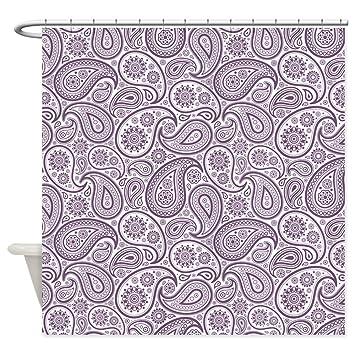 Amazon CafePress Purple Plum White Vintage Floral Paisley