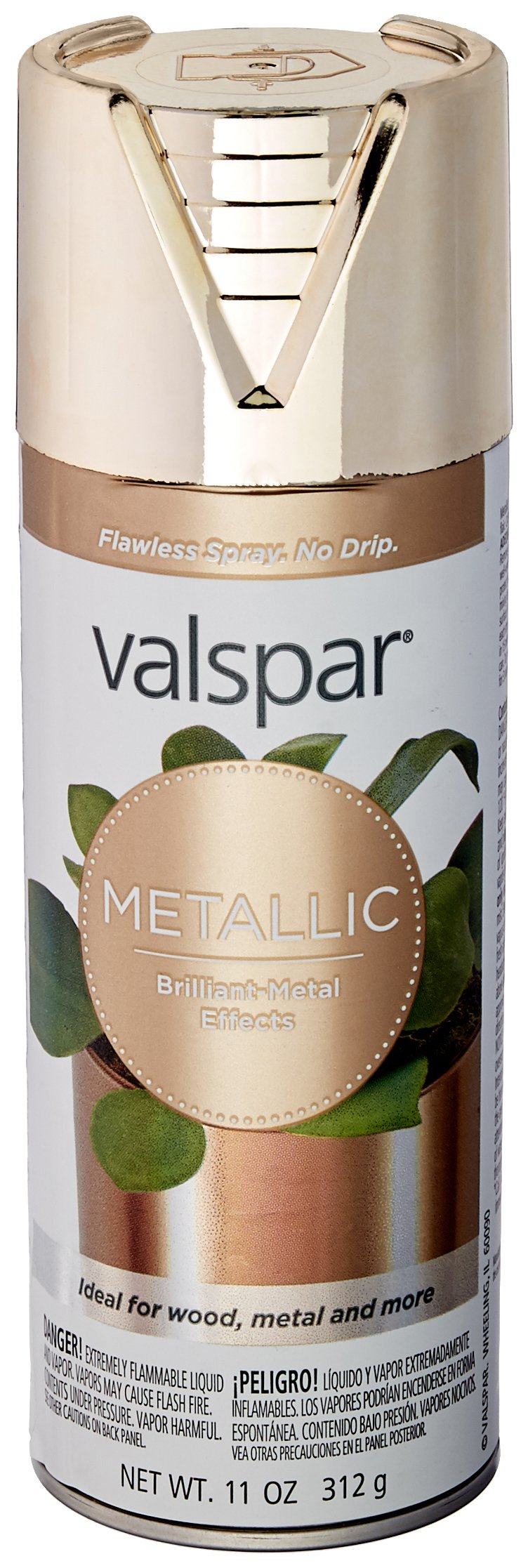 Valspar 465-66009 SP 12 oz Gold Brilliant Metal Spray Paint by Valspar