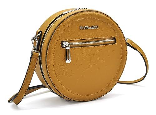 309fbad8c4 Flora & Co - Paris Sac rond/Sac tambour/Sac tendance porté épaule ou  bandoulière - Simili cuir ...