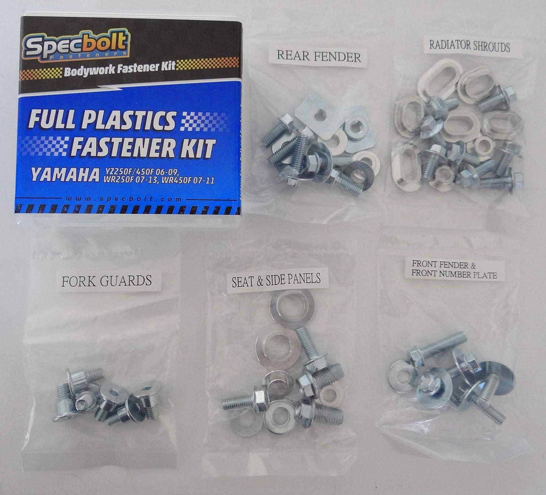 2006-2009 2007-2013 #0613 WR450F 2007-2011 WR250F Specbolt Full Plastics Body Fastener Bolt Kit Fits: YAMAHA YZ250F /& YZ450F