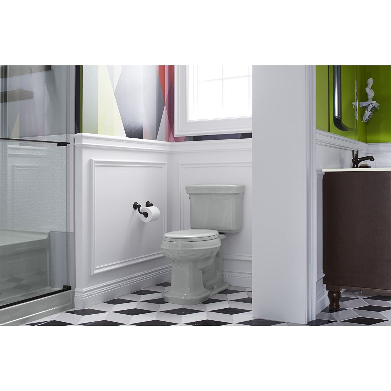 Biscuit Kohler K 4659 96 Bancroft With Quick Release Hinges Elongated Toilet Seat