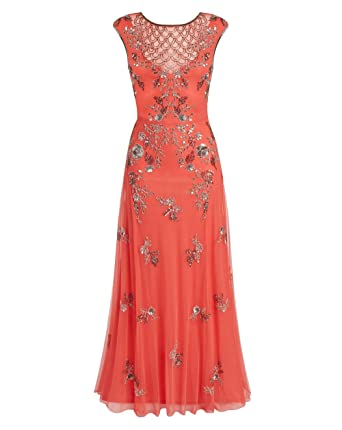 f3a2d823 JD Williams Womens Joanna Hope Embellished Maxi Dress Coral, 12/52 Inches