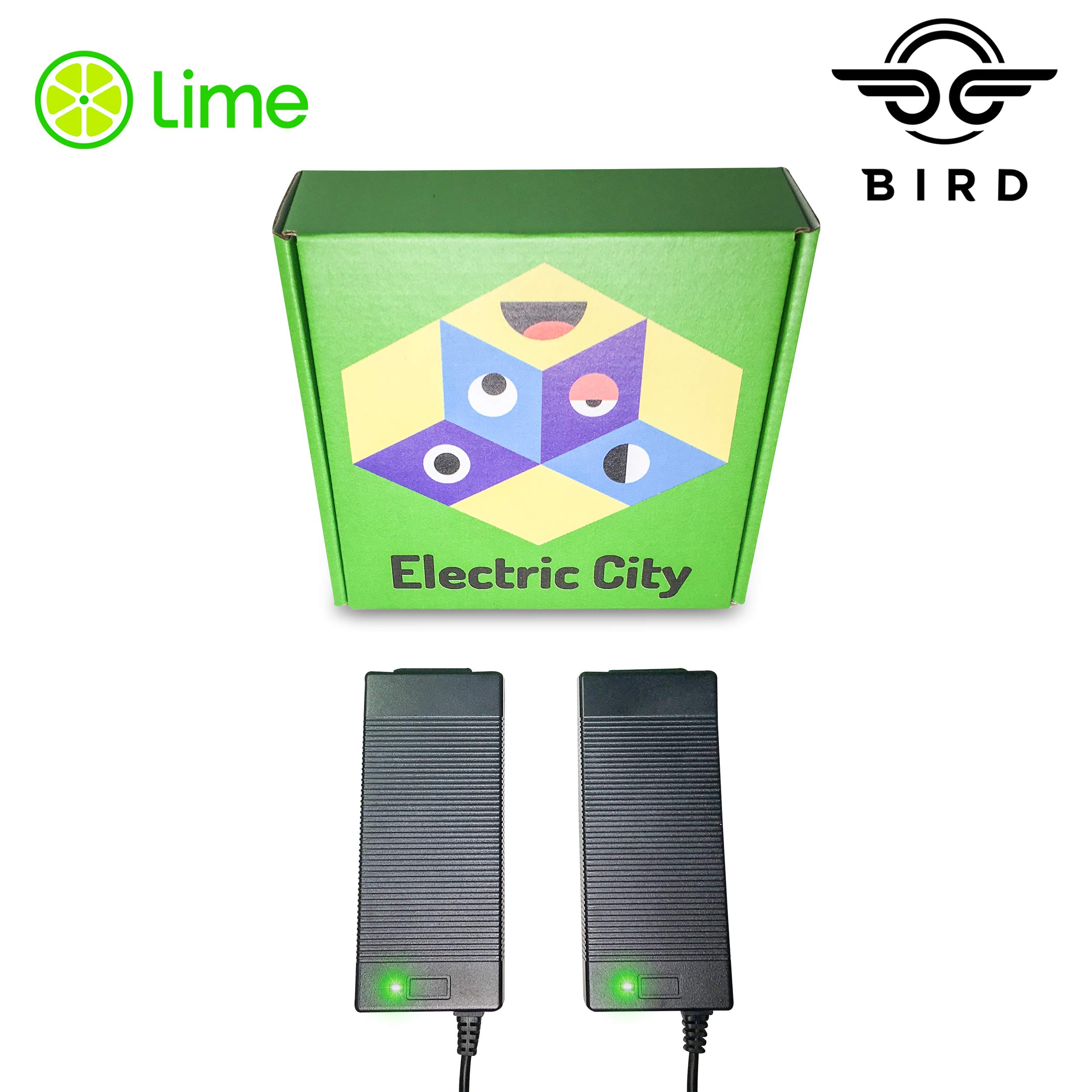 Lime Scooter Charger 2-Pack   Bird, Lime-S, Mijia M365, Segway Ninebot Es4, Es2, Es1 Compatible. by TheScooterLife
