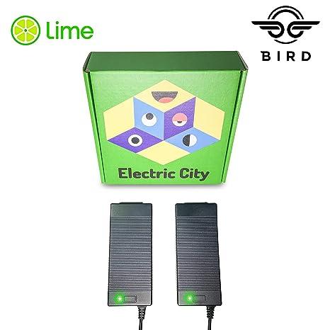 Lime Scooter Charger 2-Pack | Bird, Lime-S, Skip, Spin, Mijia M365, Segway Ninebot Es4, Es3, Es2, Es1 Compatible.