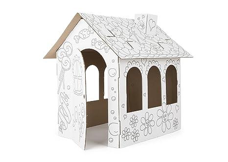 Costruire Una Casa Delle Bambole Di Legno : Tektorado casa delle bambole in cartonato da colorare e costruire