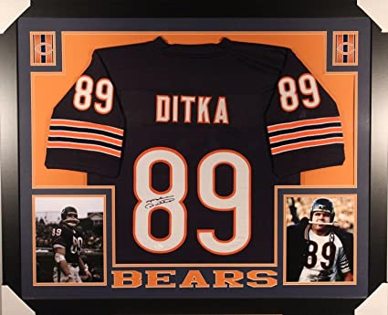 official photos 94629 8b179 Autographed Mike Ditka Jersey - Framed Matted - Autographed ...