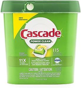Cascade ActionPacs Dishwasher Detergent Fresh Scent 115 Count, Green