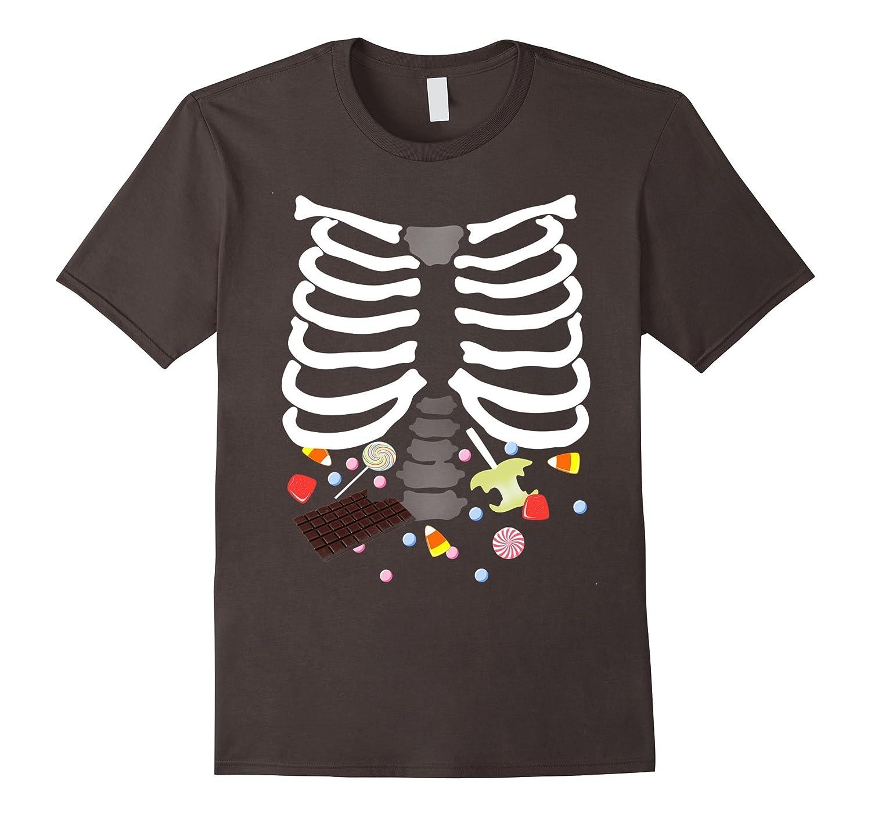 Glow In The Dark Halloween Candy Ribs Graphic Tee-FL